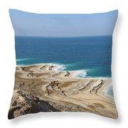 Coastline In The Desert Throw Pillow