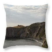 Coastline Of Skerwink Trail, Trinity, Newfoundland, Canada  Throw Pillow