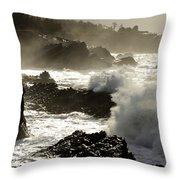 Coastline Oregon Throw Pillow