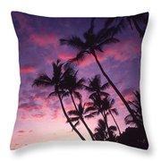 Coastline Palms Throw Pillow