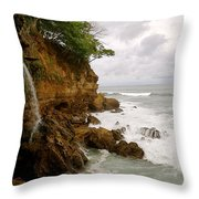 Coastline Waterfall Throw Pillow
