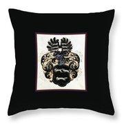 Coat Of Arms Black Throw Pillow