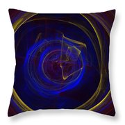 Cobalt Blue Throw Pillow