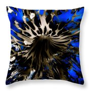 Cobalt Blue Wormhole Throw Pillow