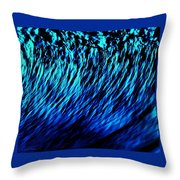 Cobalt Blues Throw Pillow