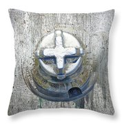 Cobalt Cat Throw Pillow