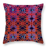Cobalt Crimson Throw Pillow