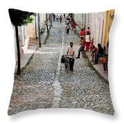 Cobbled Road Throw Pillow