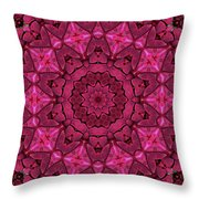 Cobbled Roses Throw Pillow