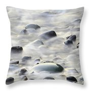 Cobbles In The Mist Throw Pillow