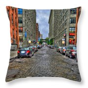 Cobblestone Brooklyn From Dumbo Throw Pillow