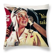 Coca-cola Ad, 1941 Throw Pillow by Granger