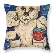 Coca Cola Bear Throw Pillow