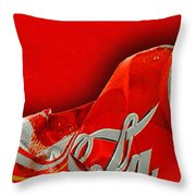 Coca-cola Can Crush Red Throw Pillow
