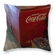 Coca-cola Chest Cooler General Store Throw Pillow