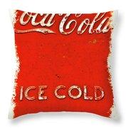 Coca-cola Cooler Throw Pillow