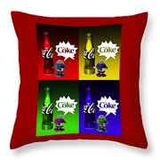 Coca-cola Forever Young 12 Throw Pillow