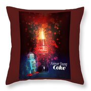 Coca-cola Forever Young 15 Throw Pillow by James Sage