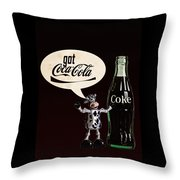 Coca-cola Forever Young 18 Throw Pillow by James Sage