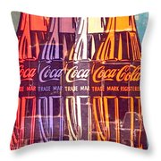 Coca Cola Newspaper Art Pop Art Pur Serie Throw Pillow