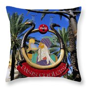Coca Cola Oasis Coolers Throw Pillow