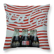 Coca Cola Olympic Commemorative Bottles Throw Pillow