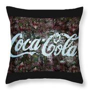 Coca Cola Wall Throw Pillow