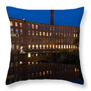 Cocheco Mills At Twilight Dover New Hampshire Throw Pillow