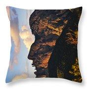 Cochise Head Throw Pillow