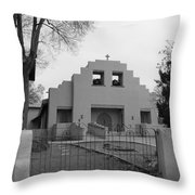 Cochiti Church Throw Pillow