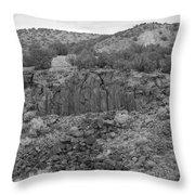 Cochiti Rocks Throw Pillow