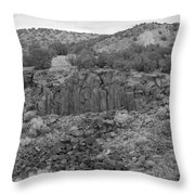 Cochiti Rocks Throw Pillow