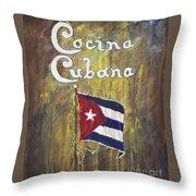 Cocina Cubana Throw Pillow