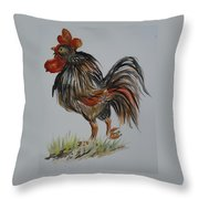 Cock-a-doodle-do Throw Pillow