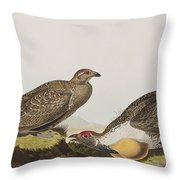 Cock Of The Plains Throw Pillow