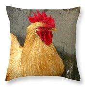 Cock Of The Walk Throw Pillow