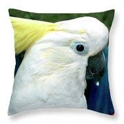Cockatoo Bird Throw Pillow