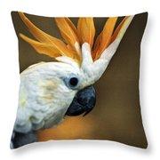 Cockatoo Show Off Throw Pillow