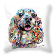 Cocker Spaniel Head Throw Pillow
