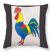 Cockerel 2 Throw Pillow
