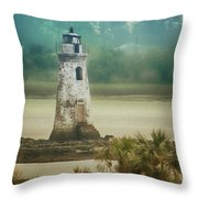 Cockspur Island Light Throw Pillow