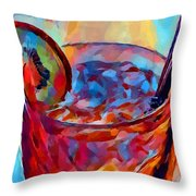 Cocktail Watercolor Throw Pillow
