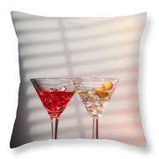 Cocktails With Strainer Throw Pillow