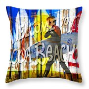 A Cocoa Beach Welcome Throw Pillow
