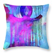 Coco Chanel Liquidated Logo Colorful Throw Pillow