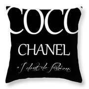 Coco Chanel Quote Throw Pillow