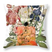 Coco Mademoiselle Notes Throw Pillow
