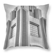 Cocoa Art Deco-2 Bw Throw Pillow