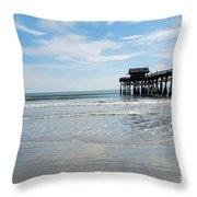 Cocoa Beach Florida Throw Pillow