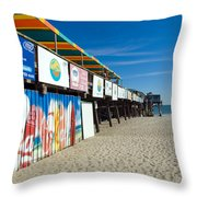 Cocoa Beach Flotida Throw Pillow